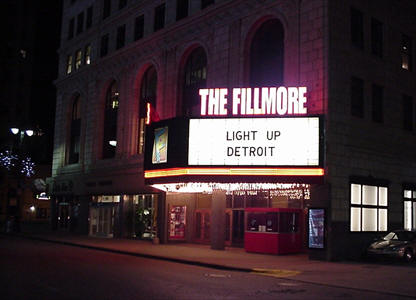In Preparation For A Music Video Being Filmed To Highlight Detroit S Illuminated Landmarks The Light Up Team Called Fillmore